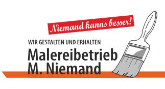 Logo - Malereibetrieb Niemand - Wir gestalten und erhalten